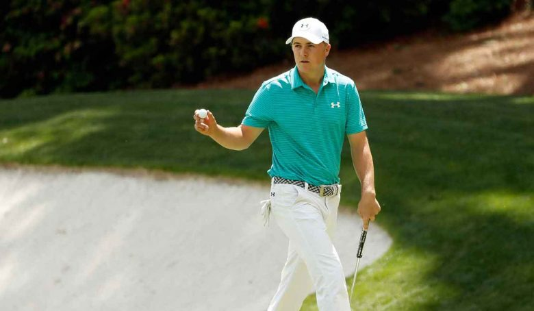Jordan Spieth at the 2018 Masters, Round One