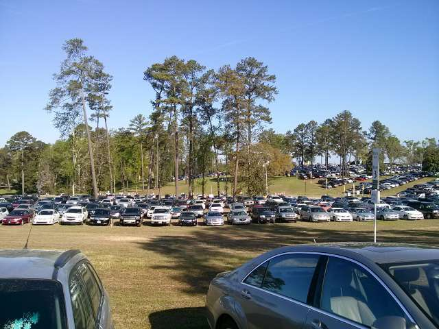The Augusta National public parking lot