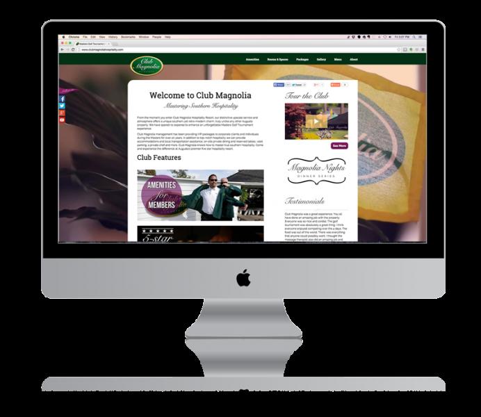 The new Club Magnolia Hospitality website.